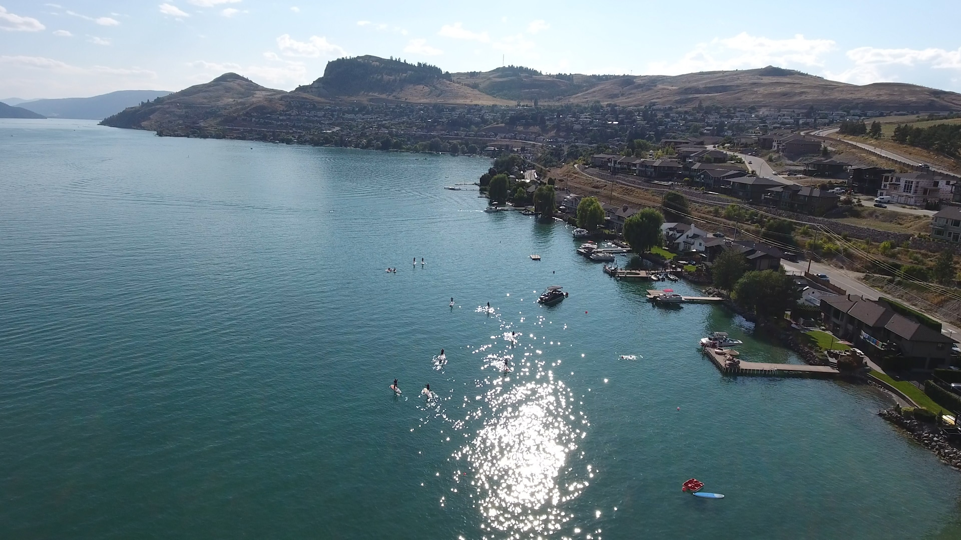 Kal Beach on Kalamalka Lake in Vernon BC - Paddle Boarders 2