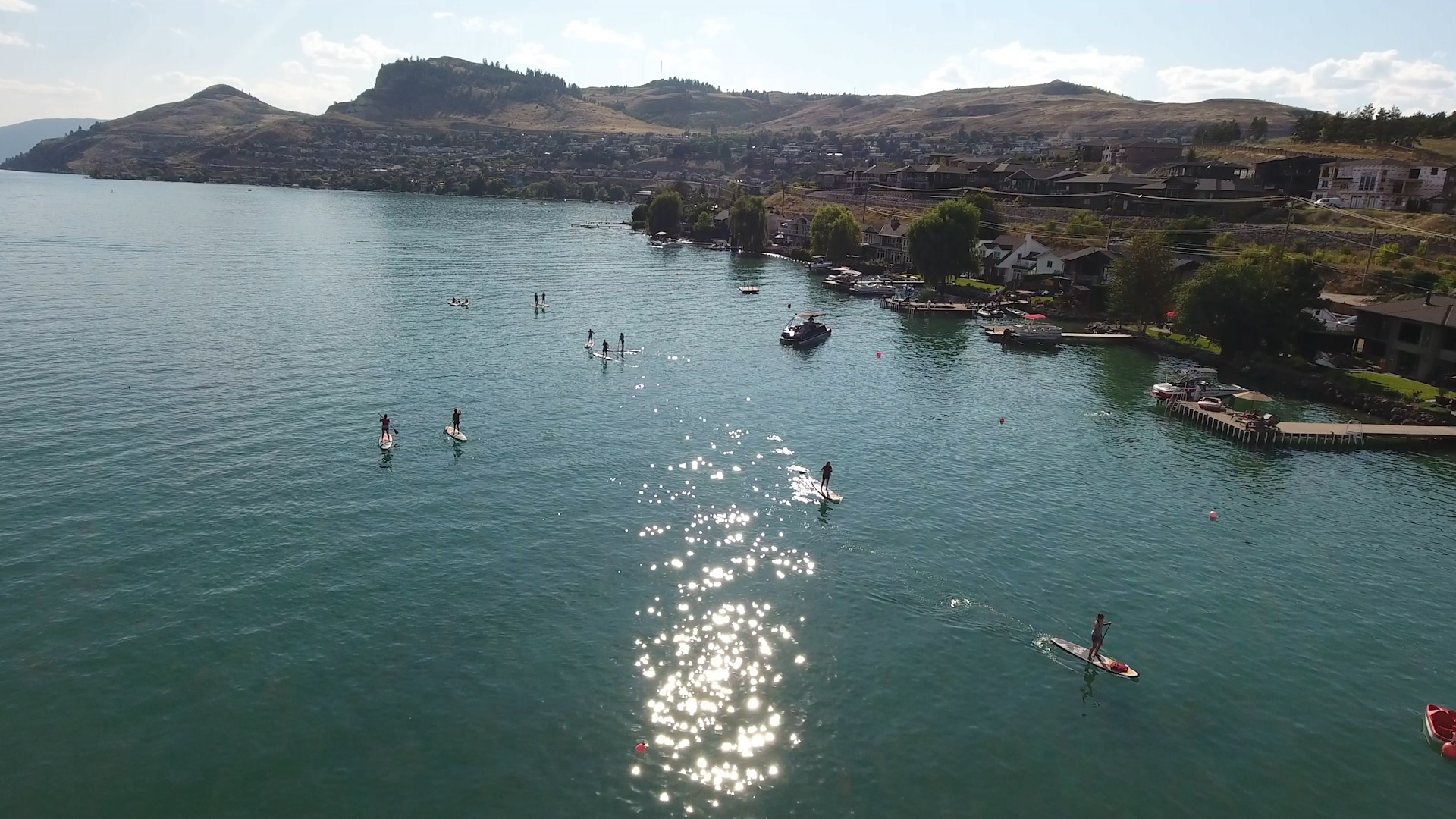 Kal Beach on Kalamalka Lake in Vernon BC - Paddle Boarders 3