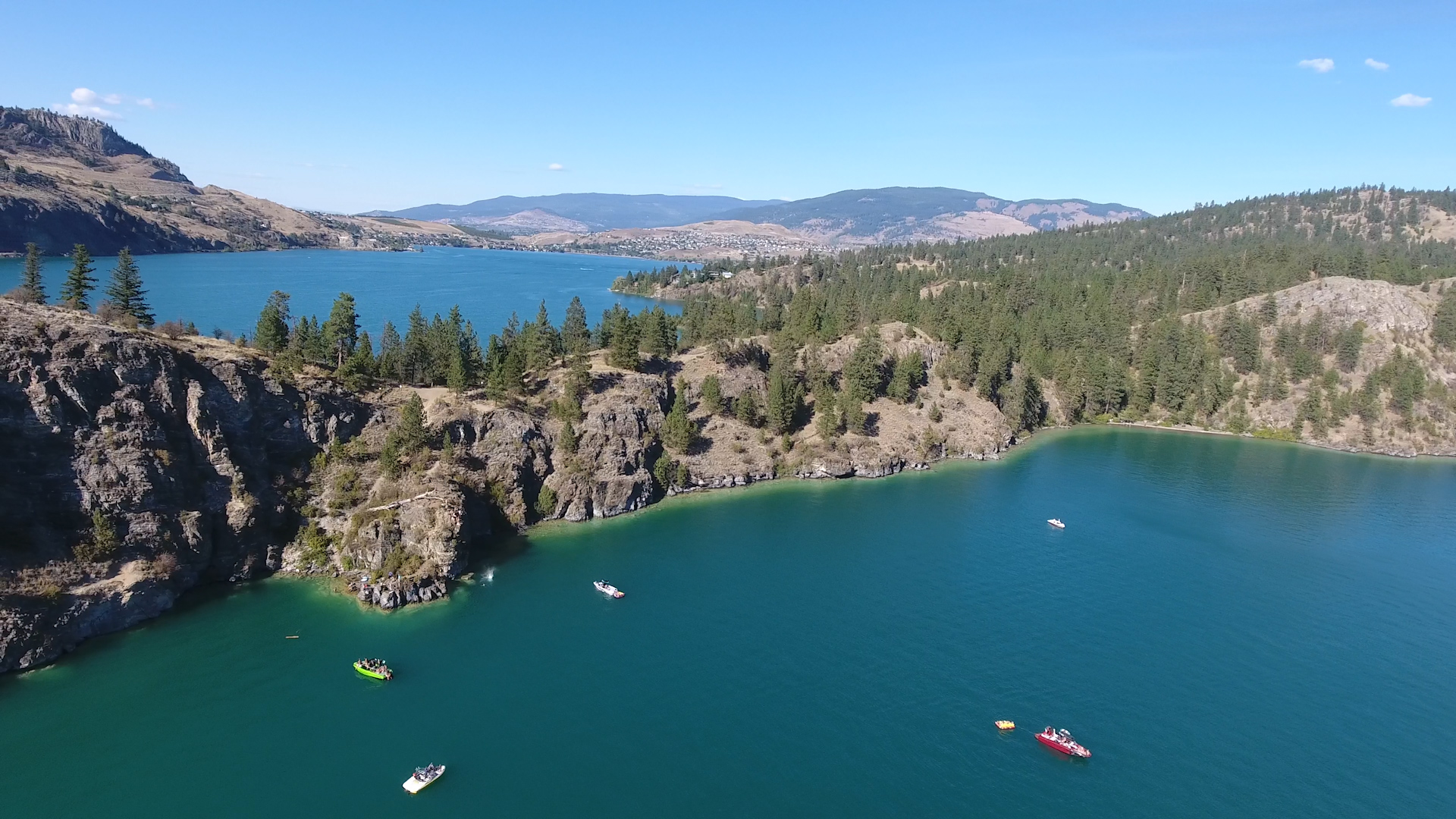 Kalamalka Lake Provincial Park - Cosens Bay and the cliffs
