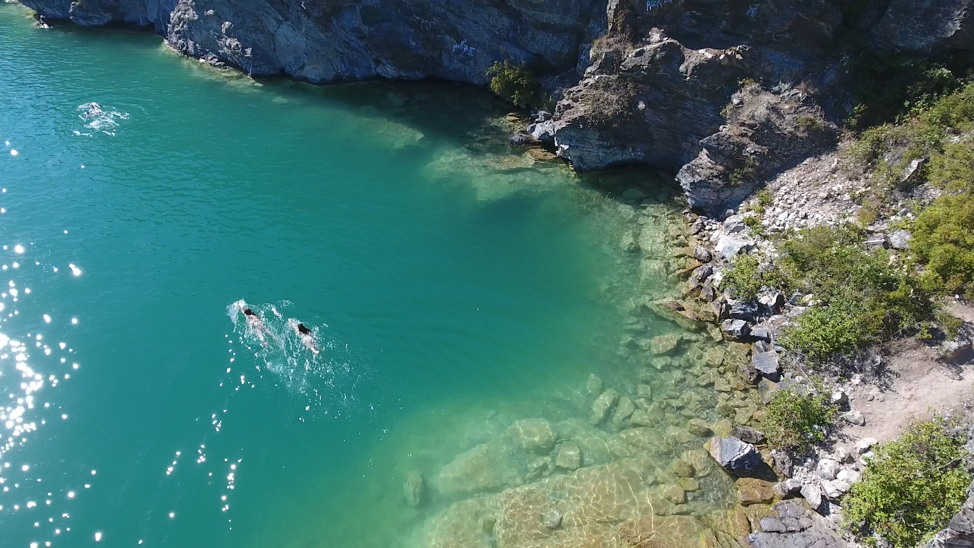 Kalamalka Lake Provincial Park - The Cliffs - Swimmers